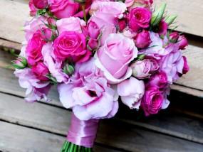 Różowy bukiet ślubny Kraków